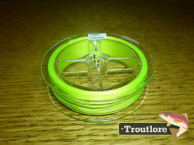 Poly Braided Backing 20 Pounds 100 Yard Yellow 20Lbs - New Fly Fishing Line