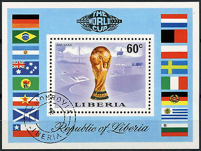 Liberia 1974 SG#MS1209 World Cup Football Cto Used M/S #A92923