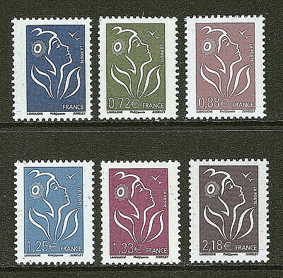 Serie Timbres 4153-4158 Neuf Xx Luxe Marianne De Lamouche