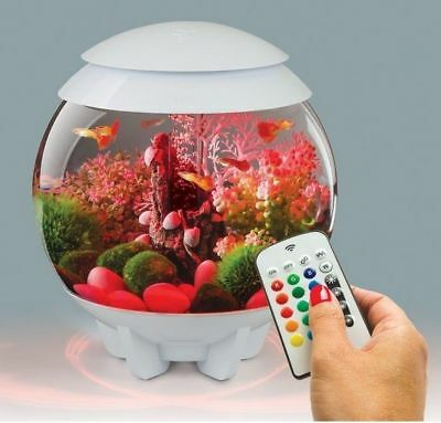 Oase White Biorb 15L Halo Colour Remote Led Mcr Bowl Fish Tank Coldwater