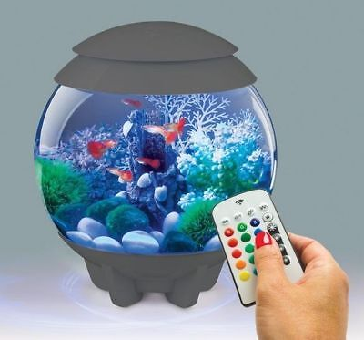 Reef One Grey Biorb 15L Halo Colour Remote Led Mcr Bowl Fish Tank Coldwater