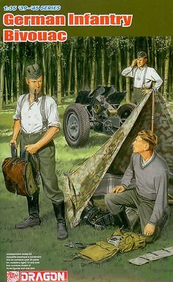 Dragon Model Kit - German Infantry Bivouac Soldiers - 1:35 Scale - 6695 - New