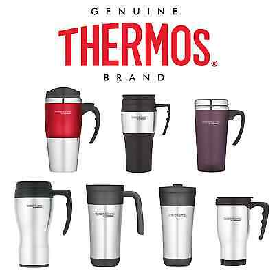 THERMOS TRAVEL MUG 400ml MULTI COLOUR Non-Spill Insulated Tea Coffee Thermal Cup