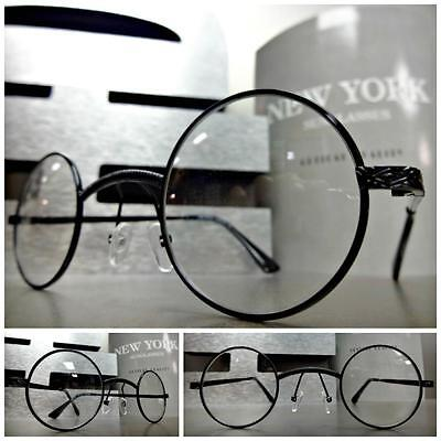 New CLASSIC VINTAGE Style Clear Lens EYE GLASSES Small Round Black Fashion Frame