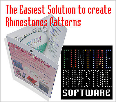Cut with Silhouette Cameo /Craftrobo Rhinestone Strass Template making software