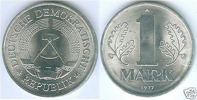 GDR 1 Mark (choice of mint state and st matte and 1956 - 1989)