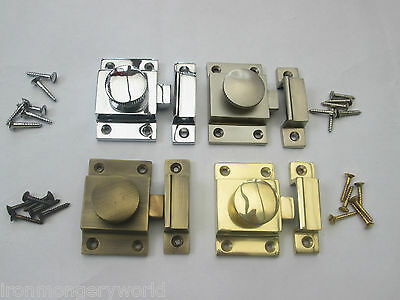 Solid Brass Old Style Cupboard Cabinet Showcase Door Catch Thumbturn Latch Lock