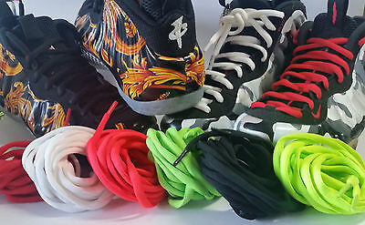 """Foamposite Shoelaces Thick Oval 72"""" Black White Pro """"gucci"""" Hologram Galaxy Lot"""