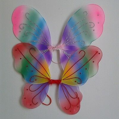 Colorful Girls Angel Fairy Dress Party Costume Butterfly Wings Baby Cos Prop W94