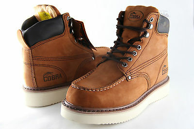 Men Work Boot Cobra C11M Brown Genuine Leather Goodyear Welt Construction New
