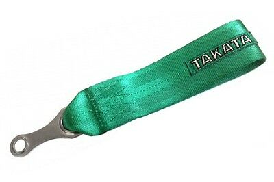 Tow strap hook point GREEN 250 mm long race