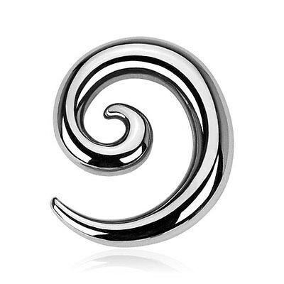 316L Surgical Stainless Steel Spiral Ear Taper / Stretcher / Plug