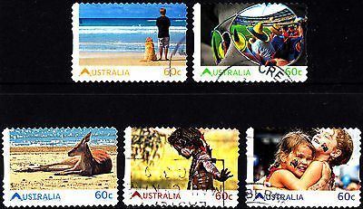 Australia 2011 Living Australian Complete Set of Stamps P Used S/A Variety