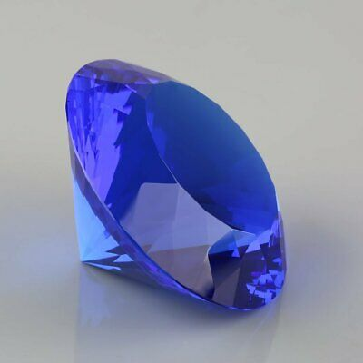 80mm Assorted Crystal Diamond Shape Paperweight Glass Gem Display Gift 3 Colors