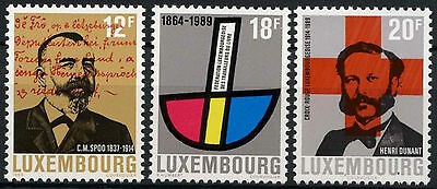 Luxembourg 1989 SG#1241-3 Anniversaries MNH Set #D1450