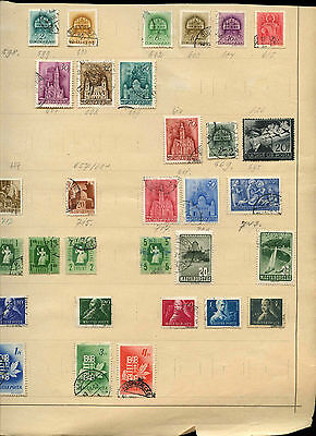Hungary Album Page Of Stamps #V3994
