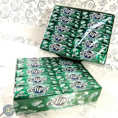 2 lots 30x Eclipse Ice Spearmint Wrigley's SUGARFREE CHEWING GUM Wrigley Green