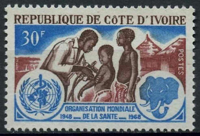 Ivory Coast 1968 SG#310, 20th Anniv Of WHO MNH #D1086
