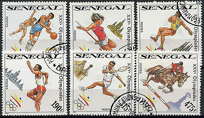 Senegal 1990 Sg#1038-43 Olympic Games Cto Used Set #D1045