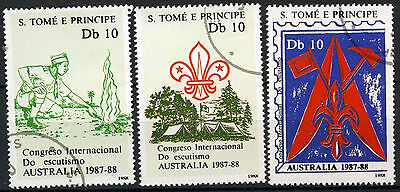 St. Thomas & Prince Island 1988 Scout Jamboree Cto Used Set #D979