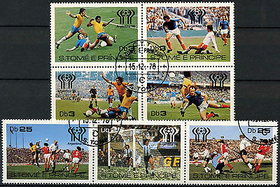 St. Thomas & Prince Island 1978 World Cup Football Cto Used Set #D954