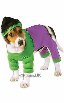 Marvel Incredible Hulk Pet Fancy Dress Costume Halloween Dog Cat Christmas Gift