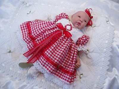 Hannahs Boutique Red & White Gingham Dress & Headband Set -All Sizes Available-