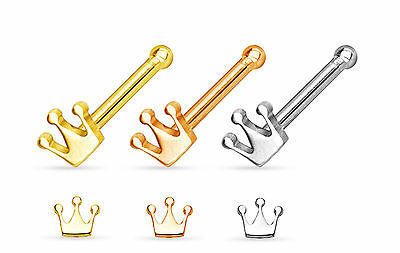 3pcs Crown Style 20g Nose Studs Bones Wholesale Body Jewelry 20 gauge