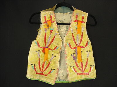 A Sioux Quilled Hide Vest, Native American Indian, Circa: 1895