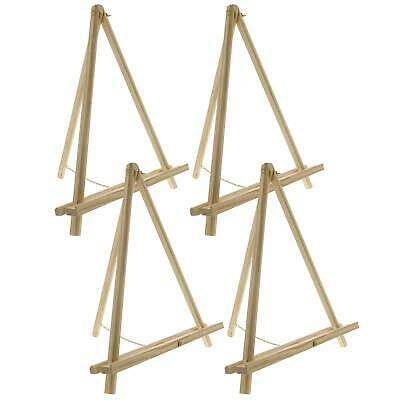 "16"" Tall Tripod Artist Display Tabletop Easel NATURAL Pine Wood Pack of 4 Easels"