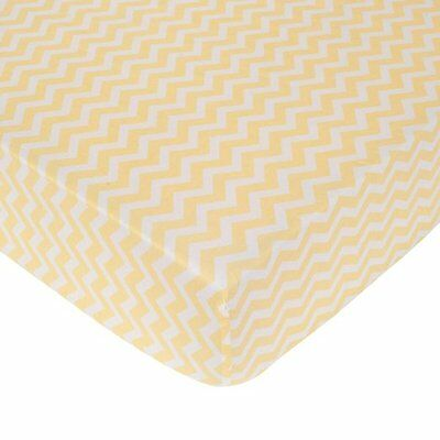 Carter's Zig Zag Crib Fitted Sheet - Yellow