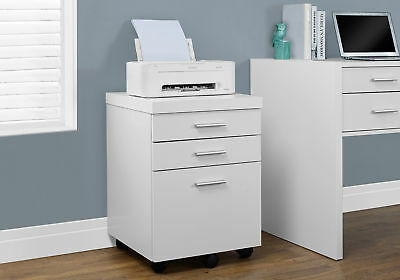 Monarch White Hollow-Core 3 Drawer File Cabinet On Castors I-7048 FILE CABINET