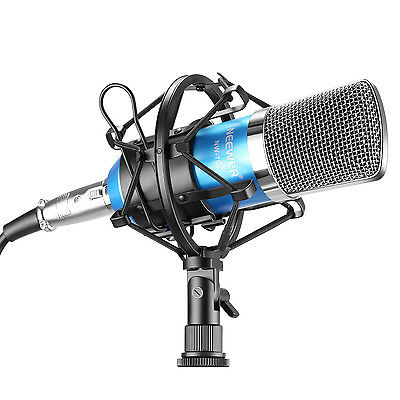 NW-700 Blue Condenser Microphone + Shock Mount +Power Cable+ Anti-wind Foam Cap