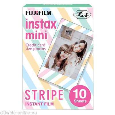 Stripe Fujifilm Fuji Instax Mini Film 10 Sheets for 8 25 50 SP1 90 - EU #FJ009X