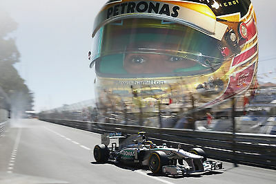 Lewis Hamilton LARGE 30x20 Inch Canvas Mercedes Framed Picture F1 Formula One