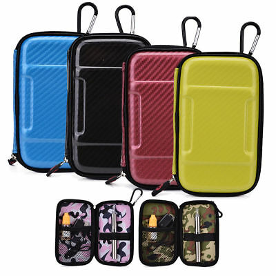 Gel Plastic Vape Case for Pen Style E Cigs Net Pocket Elastic Band w/ Carabiner
