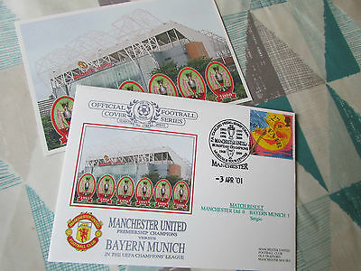 MANCHESTER United v BAYERN MUNICH 2001 Champions League FOOTBALL Dawn FDC