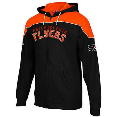 Philadelphia Flyers Hockey Reebok Full Zip Hoodie - NEW WITH TAGS $70