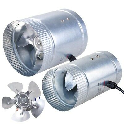 "4"" 6"" 8"" Inch Inline Duct Fan Exhaust Blower HIGH CFM Ventilation Cool Vent"