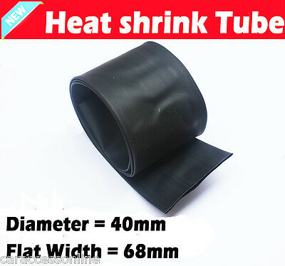 Heat Shrink tube Heatshrink tubing Sleeving BLACK Dia=40mm 1meter  AU STOCK