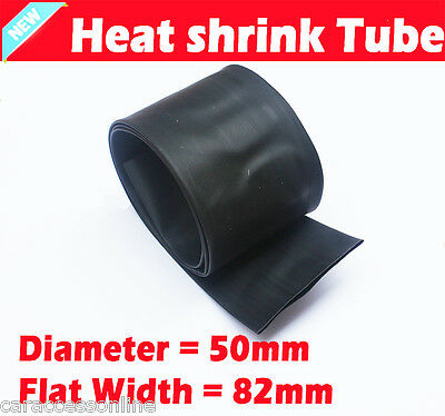 Heat Shrink tube Heatshrink tubing Sleeving Black Dia=50mm 1meter  AU STOCK