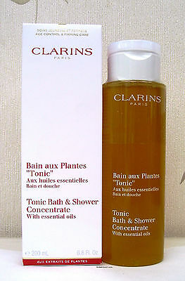Clarins Tonic Bath & Shower Concentrate With Essential Oils 200ml Sealed & boxed