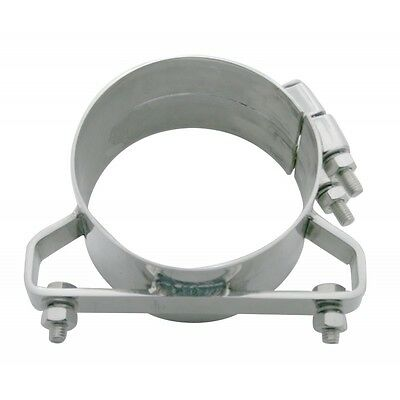 "exhaust band clamp bracket wide 304 stainless steel for 5"" Freightliner stacks"