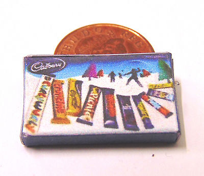 1:12 Empty Cadbury Christmas Selection Packet Dolls House Miniature Accessory N