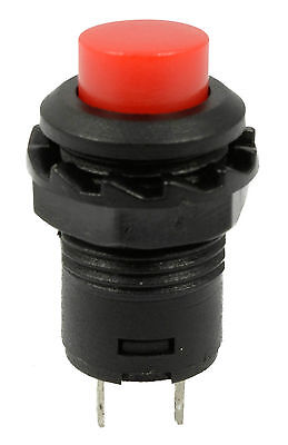 5PCS Red Off(On) Momentary Push Button Switch Horn Doorbell Car Dash 12V