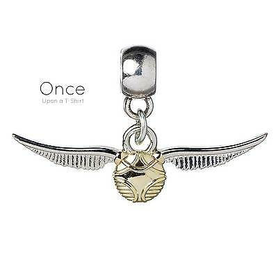 Official HARRY POTTER Jewellery Silver Plated GOLDEN SNITCH Slider Charm