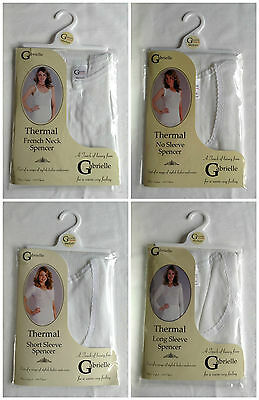New Ladies Sizes 8-20 Ivory Short Or Long Sleeve Vest Camisole Thermal Underwear