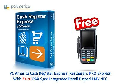 PC America Cash Register Express/ Restaurant Pro Express CRE/RPE Software