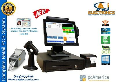 Retail All-In-One Touch Screen POS Complete System,PC America CRE