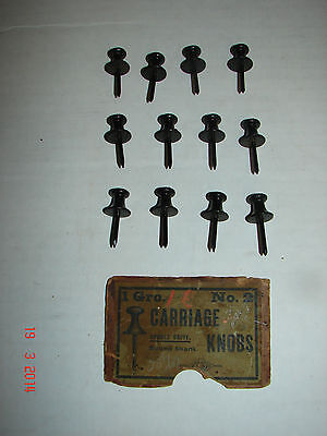 12 - 1 Dozen No. 2 CARRIAGE KNOBS - Old New Store Stock - Double Drive LAST 12